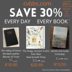 Save 30 percent on all books - Cumberland Valley Bible and Book Service